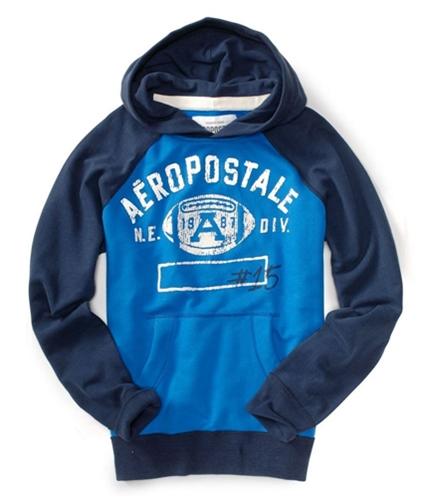 Aeropostale Mens A87 Ne Div Football Hoodie Sweatshirt activeblue XS
