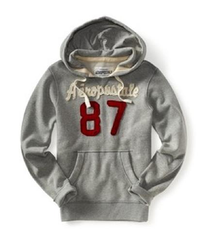 Aeropostale Mens V-neck 87 Hoodie Sweatshirt lththr XS