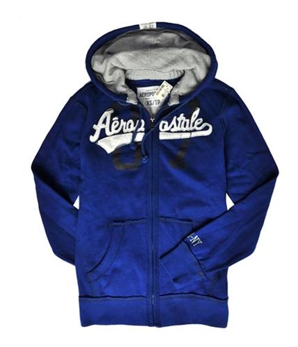 Aeropostale Mens 87 Embroidered Hoodie Sweatshirt lapisblue XS