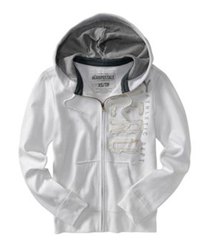 Aeropostale Mens Solid Aero Hoodie Sweatshirt bleachwhite XS