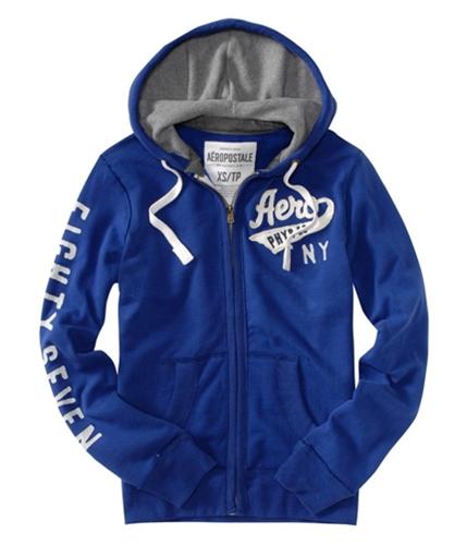 Aeropostale Mens Solid Aero Phys Ed Ny Hoodie Sweatshirt arenablue L