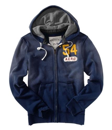 Aeropostale Mens 545 Aero Zip Up Hoodie Sweatshirt navynightblue L