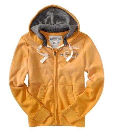 Aeropostale Mens Cc Zip Up Hoodie Sweatshirt squashorange XS