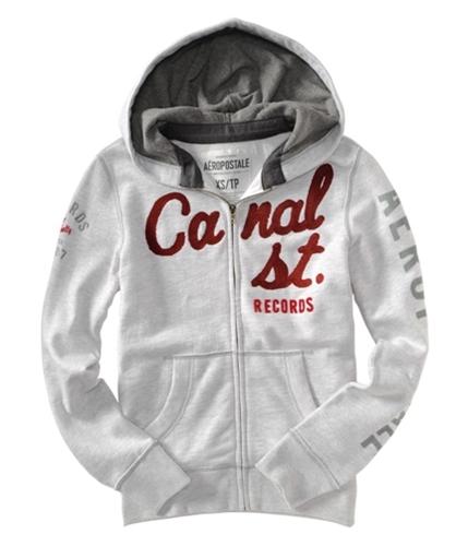 Aeropostale Mens Embroidered Canal St Records Hoodie Sweatshirt lighties XS