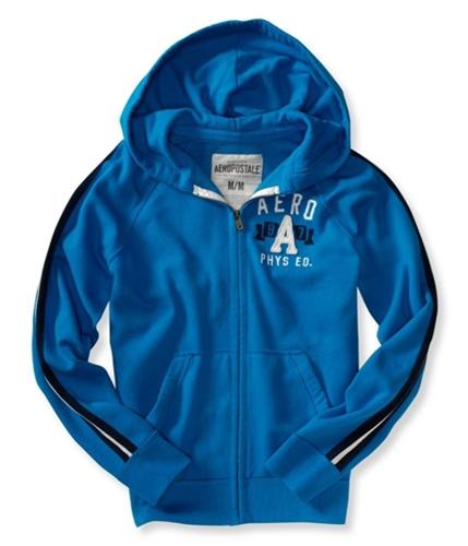 Aeropostale Mens 8a7 Phys. Ed Zip Up Hoodie Sweatshirt bluyel L