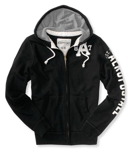 Aeropostale Mens A 87 Hoodie Sweatshirt black XS