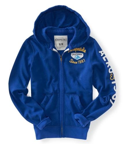 Aeropostale Mens California Full Zip Up Hoodie Sweatshirt 488 XS