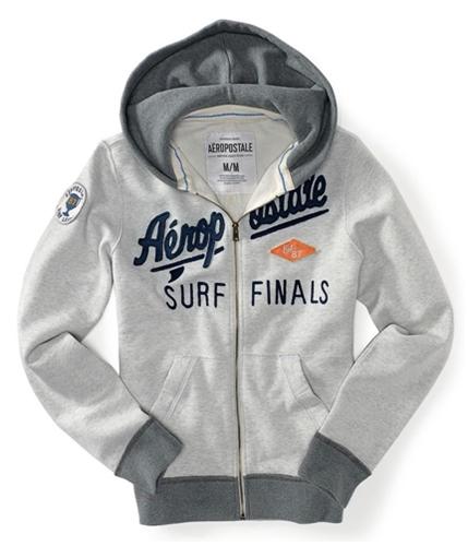 Aeropostale Mens Surf Finals Zip Up Hoodie Sweatshirt 3523 XS