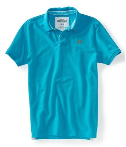 Aeropostale Mens Solid Uniform Logo Rugby Polo Shirt brtaqu XS