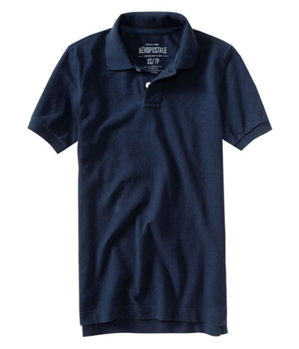 Aeropostale Mens Solid Rugby Polo Shirt 437 S