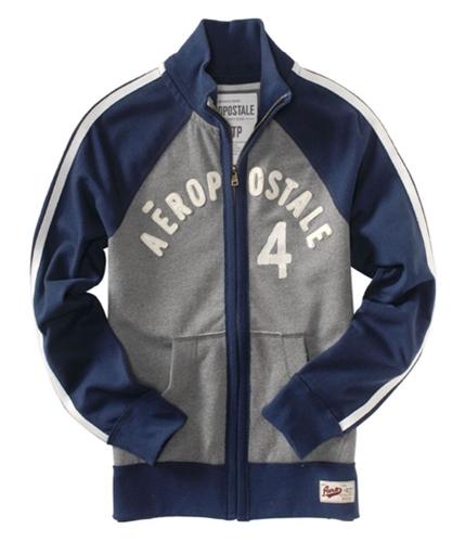 Aeropostale Mens Track Zip Up Hoodie Sweatshirt mediumgray XS
