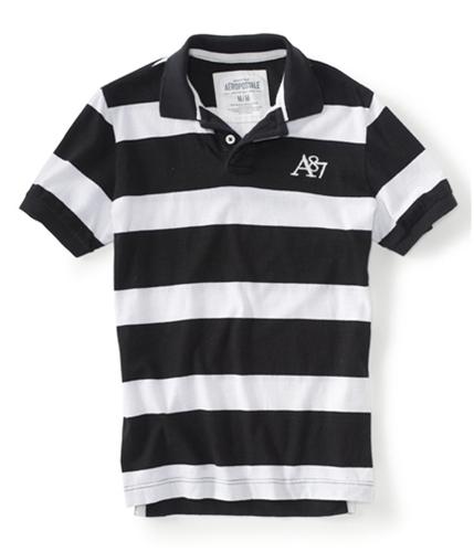 Aeropostale Mens Stripe A87 Rugby Polo Shirt 001 XS