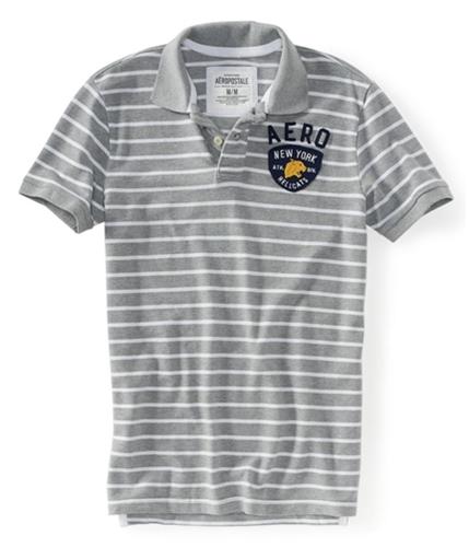 Aeropostale Mens New York Hellcats Stripe Rugby Polo Shirt lththr XS