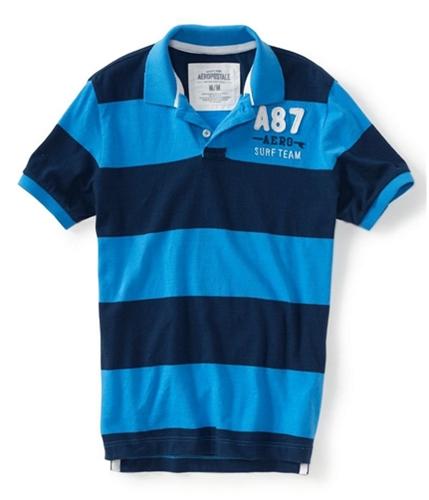 Aeropostale Mens A87 Aero Surf Team Stripe Rugby Polo Shirt 133 XS