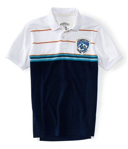 Aeropostale Mens Surfing Finals Rugby Polo Shirt 102 XS