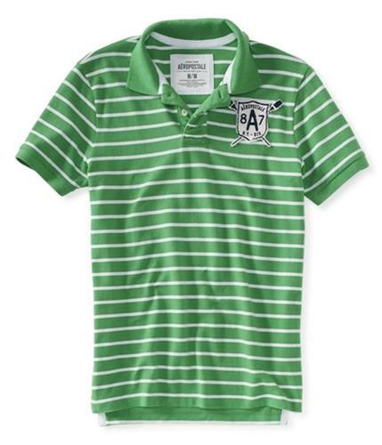 Aeropostale Mens Lacrosse 8a7 Stripe Rugby Polo Shirt intense XS
