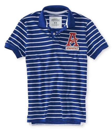 Aeropostale Mens A87 Stripe Rugby Polo Shirt blprpl M