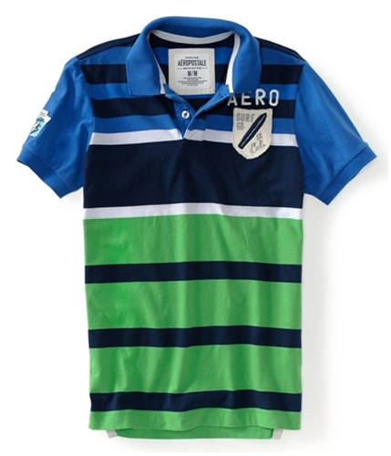 Aeropostale Mens Surf Co. So. Cali Rugby Polo Shirt active XS