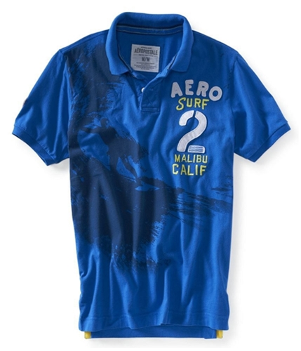 Aeropostale Mens Aerourf 2 Rugby Polo Shirt 793 XS