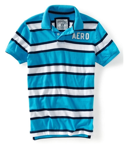 Aeropostale Mens Aero Stripe Rugby Polo Shirt 457 XS