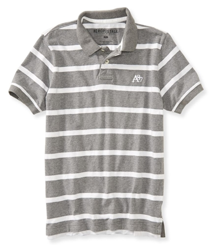 Aeropostale Mens A87 Striped Rugby Polo Shirt 462 XS