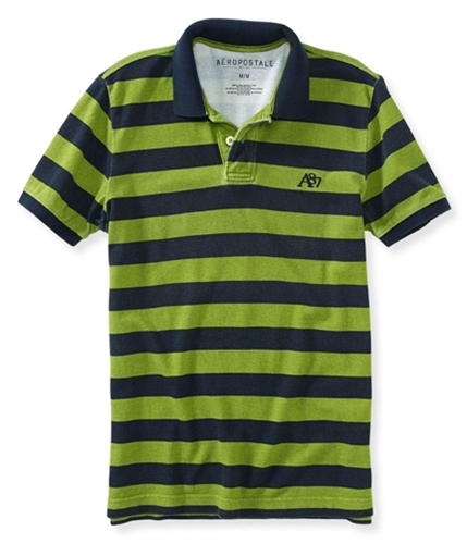 Aeropostale Mens A87 Textured Striped Rugby Polo Shirt 137 XS