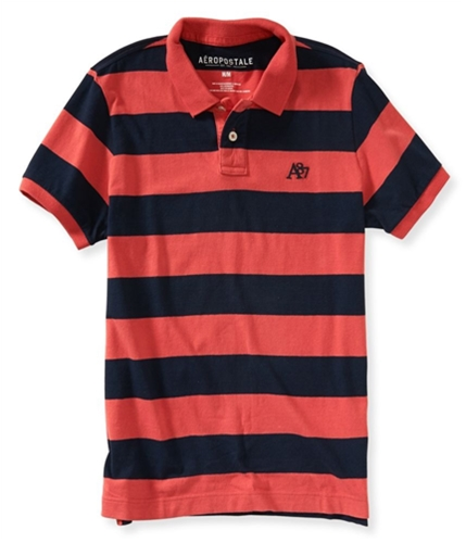 Aeropostale Mens Striped A87 Rugby Polo Shirt 416 XS