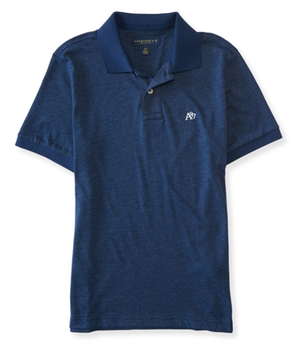 Aeropostale Mens A87 Heathered Rugby Polo Shirt 001 L