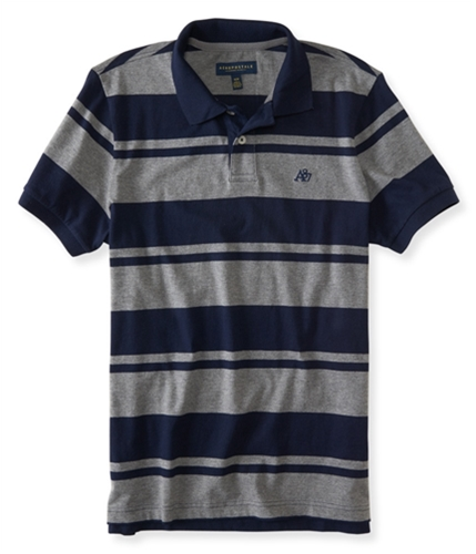 Aeropostale Mens A87 Striped Rugby Polo Shirt 404 XS