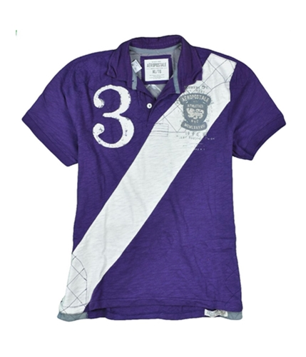 Aeropostale Mens Mgmlxxxvii Rugby Polo Shirt regalpurple 2XL