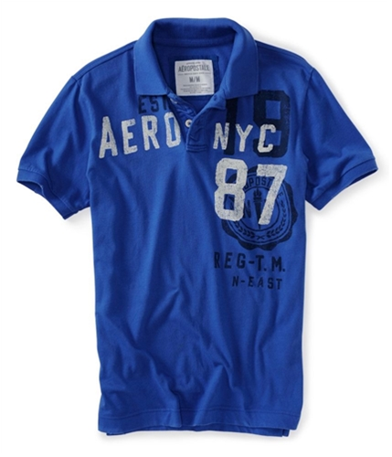 Aeropostale Mens Nyc Jersey Crest Rugby Polo Shirt ultrama XL