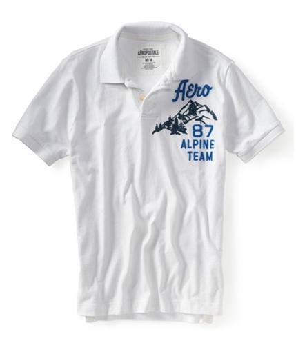 Aeropostale Mens Aero 87 Alpine Rugby Polo Shirt bleach XS