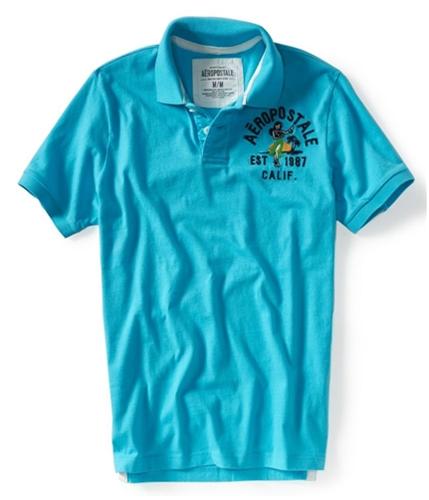 Aeropostale Mens Hula Girl Rugby Polo Shirt brtaqu XS