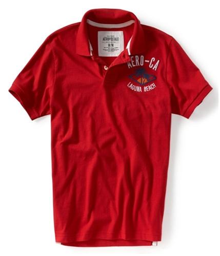Aeropostale Mens Aero-ca Rugby Polo Shirt red629 XS