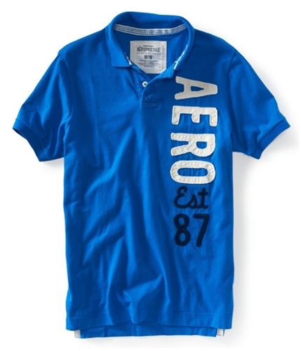 Aeropostale Mens Aero Est 87 Rugby Polo Shirt 793 XS