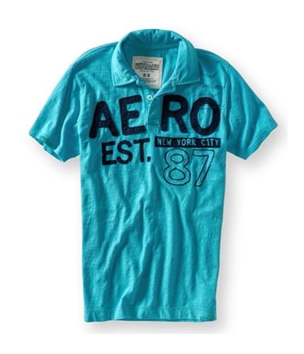 Aeropostale Mens Aero Reg. Trademark Rugby Polo Shirt 118 XS