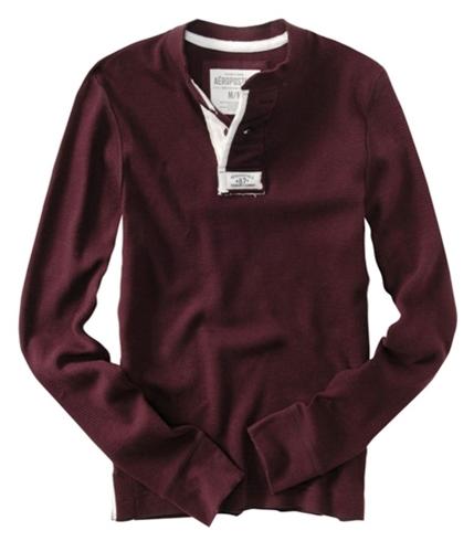 Aeropostale Mens 2 Button Henley Sweater richwi XS