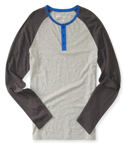 Aeropostale Mens Raglan Henley Shirt 091 XS