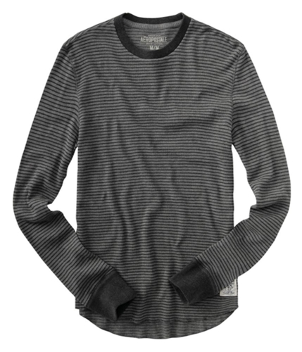 Aeropostale Mens Thermal Knit Sweater mediumgray 2XL