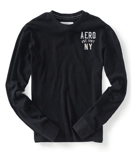 Aeropostale Mens Aero Est 1987 Graphic T-Shirt black XS
