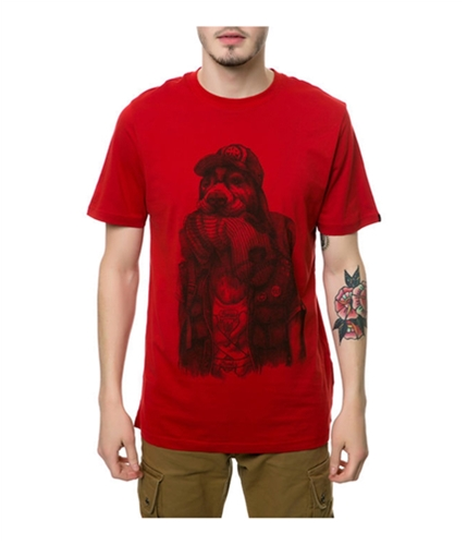 Emerica. Mens The Bones Not Bombs Graphic T-Shirt red S