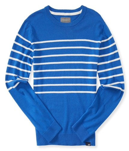 Aeropostale Mens Striped Knit Pullover Sweater 433 S