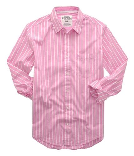 Aeropostale Mens Stripe Down Casual Button Up Shirt brtpin 2XL