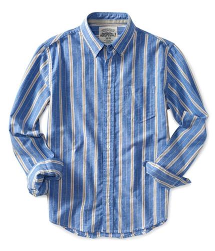 Aeropostale Mens A87 Stripe Button Up Shirt 793 S