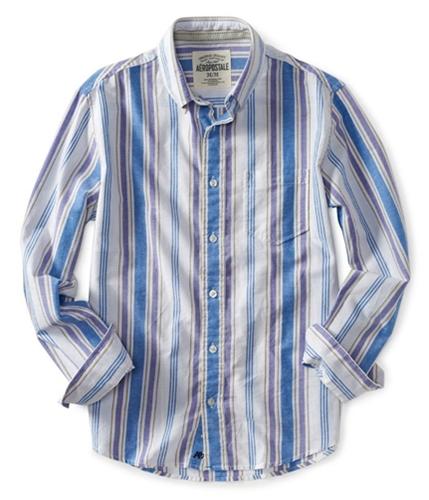 Aeropostale Mens Stripe Ls Button Up Shirt 102 S