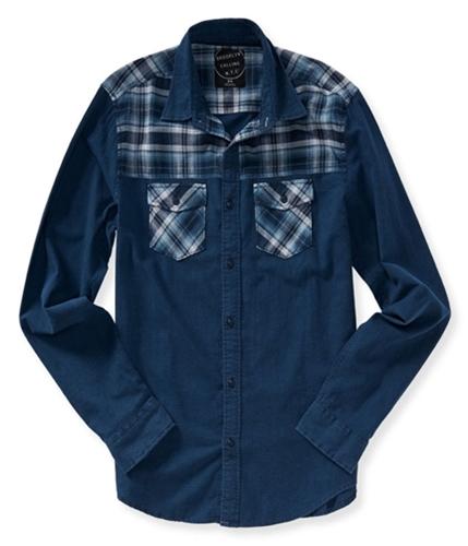 Aeropostale Mens Woven Mix Button Up Shirt 037 L