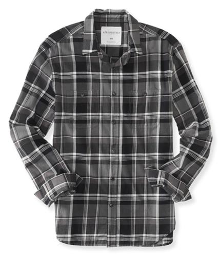 Aeropostale Mens Check Pocket Button Up Shirt 032 S