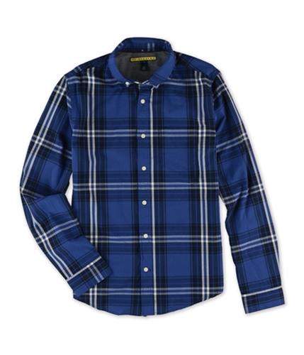 Aeropostale Mens Plaid LS Button Up Shirt 415 S