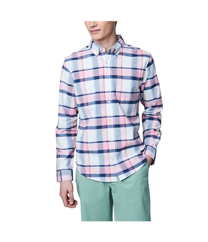 Aeropostale Mens Plaid Long Sleeve Casual Button Up Shirt 407 S