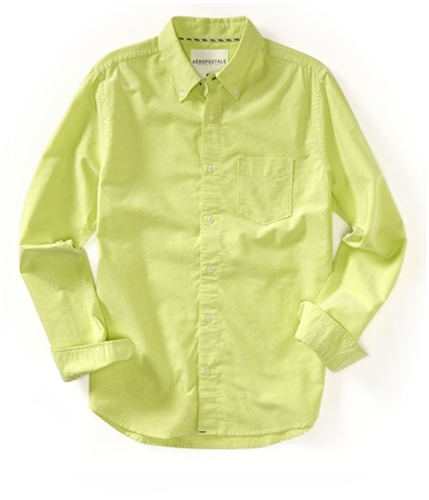 Aeropostale Mens Solid Oxford Button Up Shirt 462 S